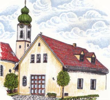 Zeichnung des Gerätehaus